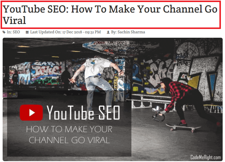 youtube seo title example